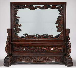 rosewood screen from Qing