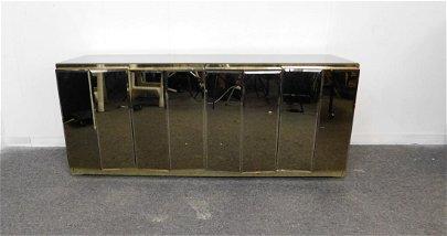 Mid Century Modern Ello Mirror & Brass Sideboard