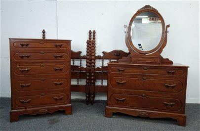 Lillian Russell Cherry Bedroom Suite by Davis Cab