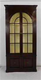 Cherry Corner Cabinet with Shell Carved Interior