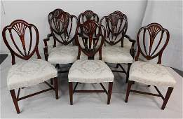 8 Hickory Chair Hepplewhite Shield Back Chairs