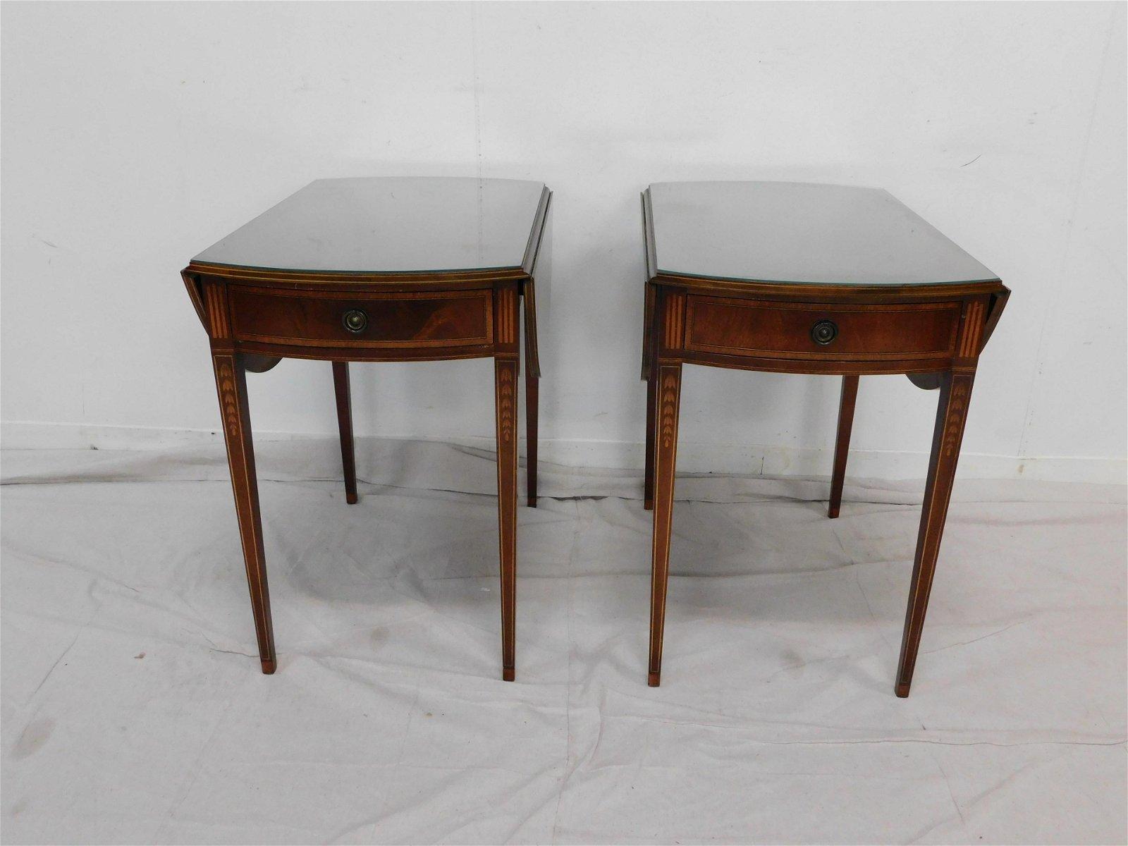 Pair of Inlaid Pembroke Mahogany Tables