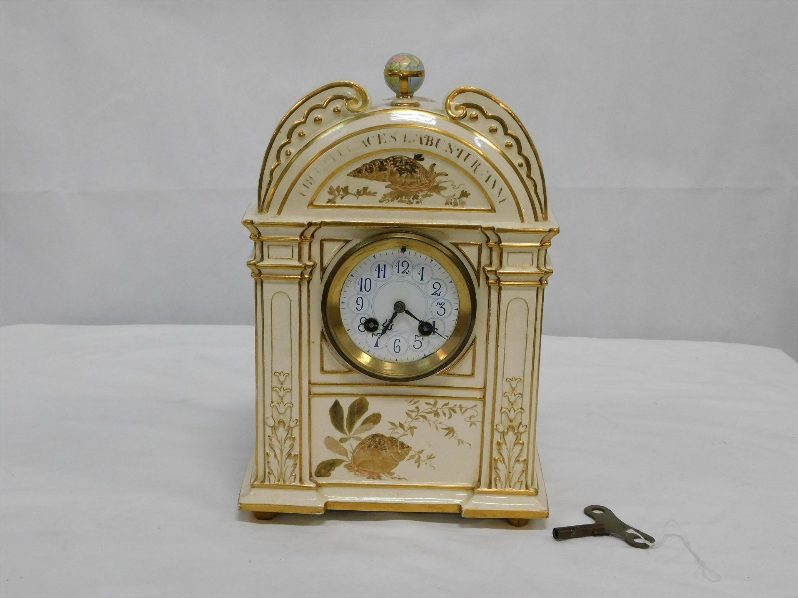 Japy Freres French Porcelain Clock