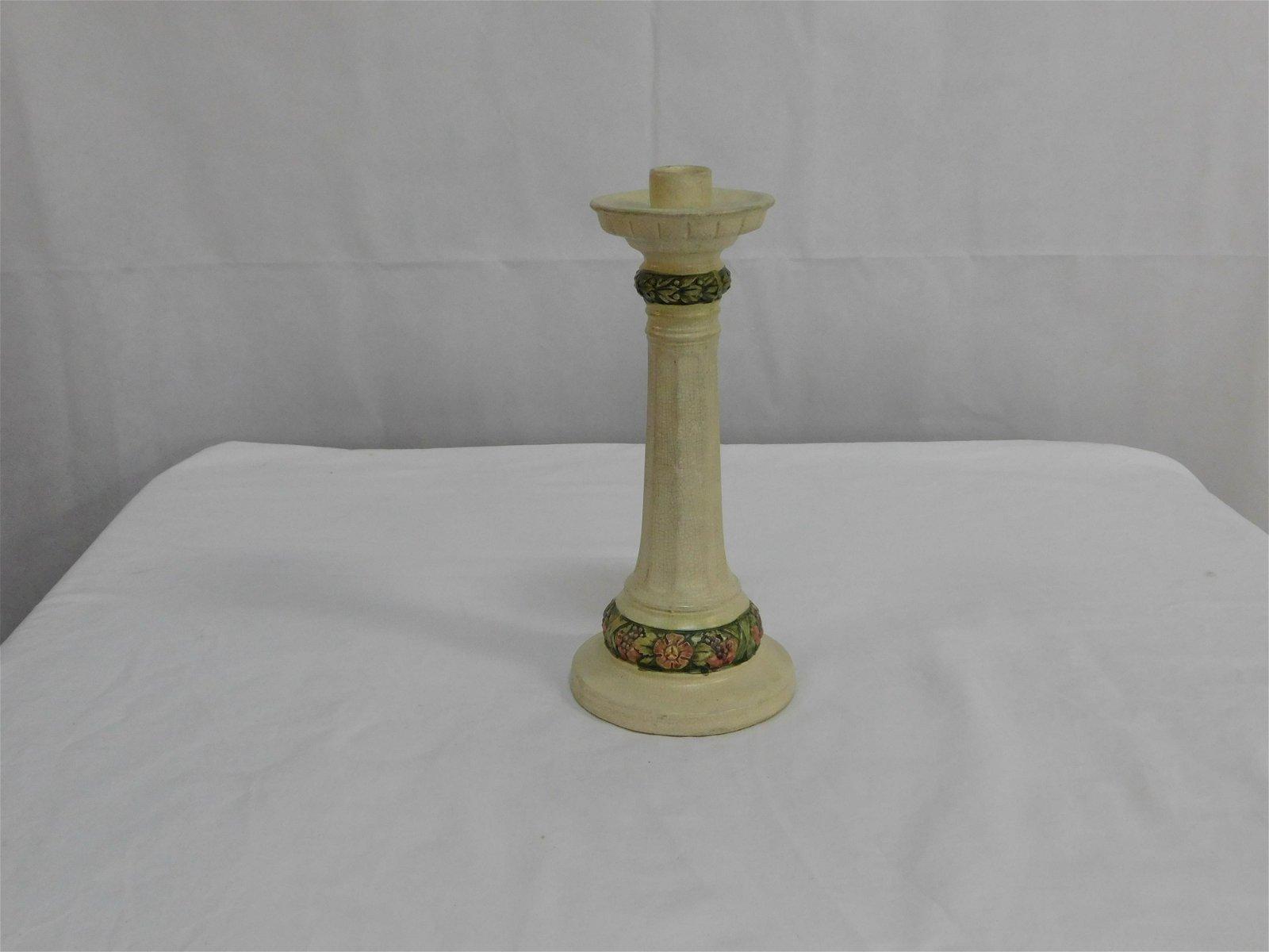 "Large Weller Pottery Candleholder ""Roma"" 1920's"