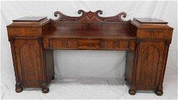 Antique Neoclassical Mahogany Pedestal Sideboard