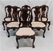 Kindel Winterthur Set of 6 Cherry Dining Chairs