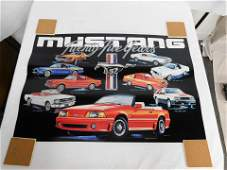 Box of 25th Anniversary Ford Mustang Posters