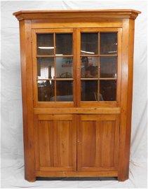 Antique Tennessee Cherry Corner Cupboard