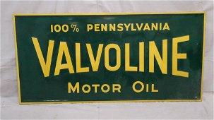 Large 6ft Vintage Valvoline Embossed Sign