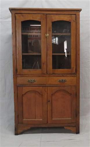 Primitive Oak Kitchen Cupboard