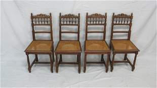 Antique Set of Four Victorian Dining Chairs