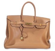 "Hermès Paris sac ""Birkin"" en cuir Togo beige"