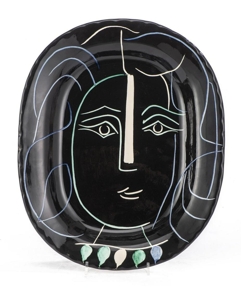 "Pablo Picasso (1881-1973), ""Visage de femme"" (Ramié"