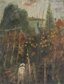 "Louis VALTAT (1869-1952) ""Jardin et son jardinier"""