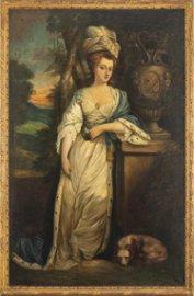"""Joshua REYNOLDS (1723-1792) d'après, """"Portrait de"""