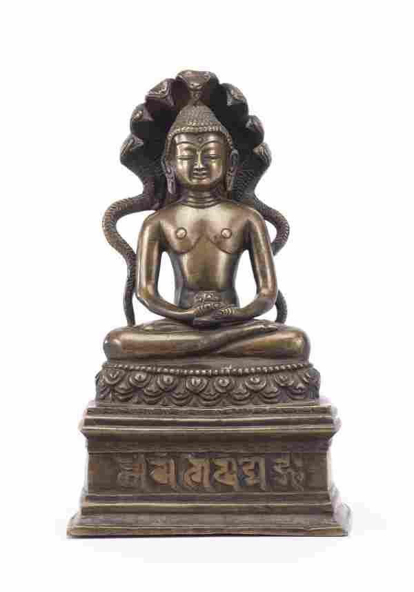 Bouddha (Buddha) tibétain en bronze