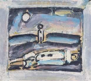 """Georges ROUAULT (1871-1958), """"Pierrot endormi"""""""