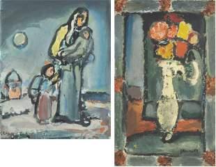 "Georges ROUAULT (1871-1958) ""Ange Gardien"" - ""L'Hiver"""