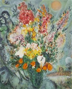 """Marc CHAGALL (1887-1985) """"Bouquet de fleurs"""""""