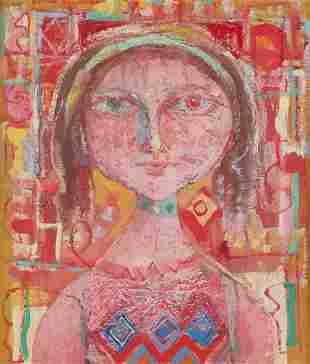 """Omar el NAGDI (1931-2019) """"Portrait de femme"""""""