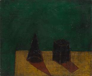 """Charles KURRE (né en 1953), """"Still life with"""