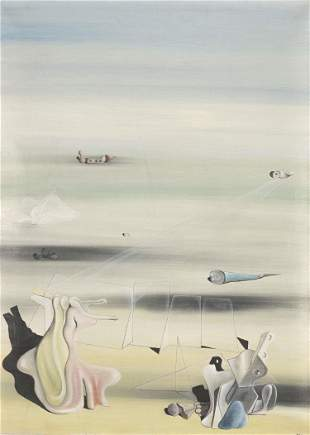 """Yves TANGUY (1900-1955) """"Titre inconnu"""""""