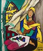 Maqbool Fida Husain  Untitled Lady in Prayer