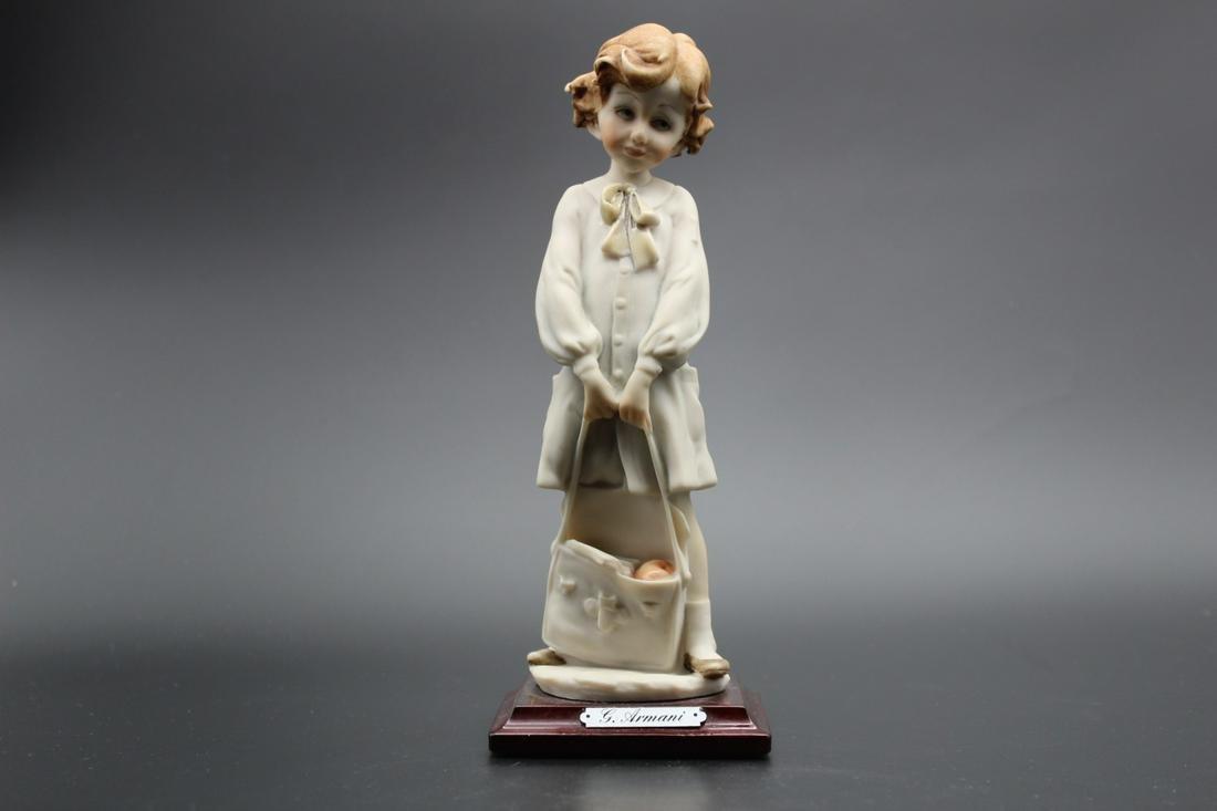 """A girl porcelain figurine """"Y.Armani """""""