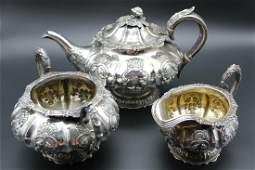 three 1815- 1816 George III London sterling silver set