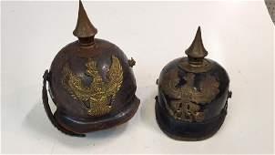 Two German WWI Spike Helmets