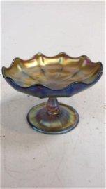 Tiffany Favrille Lotus Pedestal Bowl