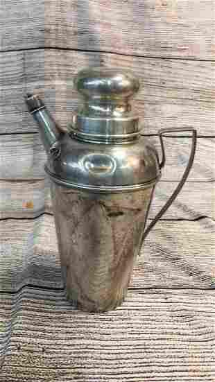 Sterling Cocktail Shaker, Tea Ball 15.34 Ozt