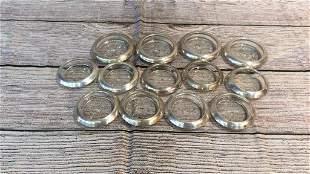 13 Sterling Rim Coasters