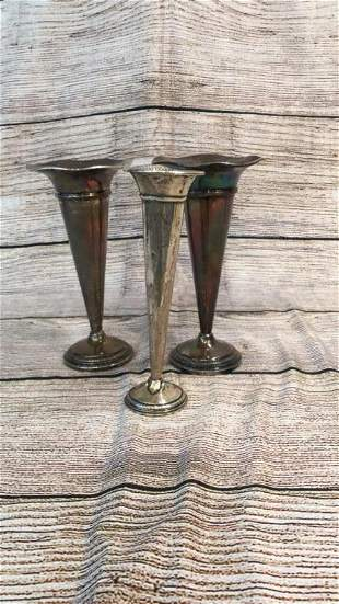 3 Weighted Sterling Vases