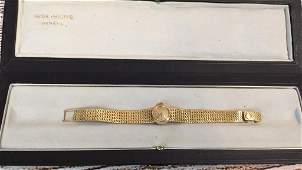 Patek Philippe Ladies 18 k Gold Wrist Watch In Original