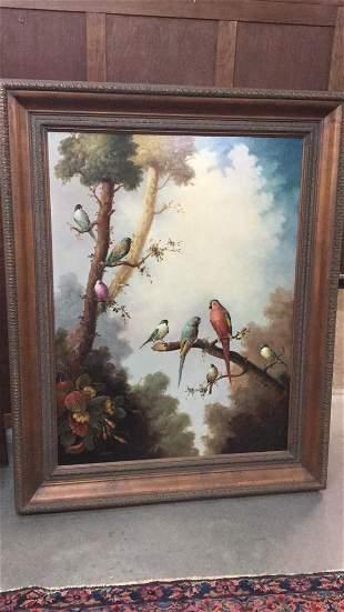 Oil on Canvas, Birds