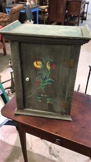 Dutch Paint Decorated Hanging Cabinet