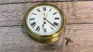 Brass Porthole Ships Clock