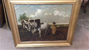 Oil on Canvas English Drover
