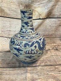 Asian Porcelain Dragon Vase Guangxu Mark