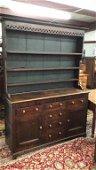 Period English Oak Pewter Cupboard