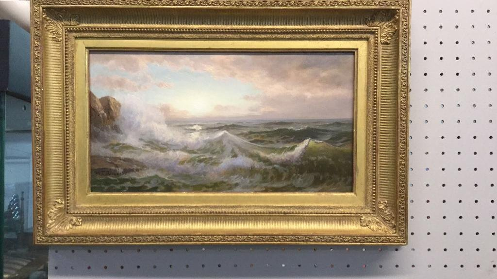 Oil on Board, Signed W.T. Richards