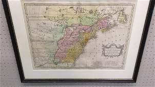 1755 Framed Map, Virginia and Carolinas