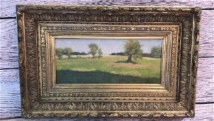 Oil on Canvas Board, Artist Luce
