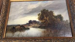Oil on Canvas, John Constable, Pastoral River