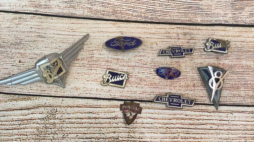 9 Vintage Automotive Badges