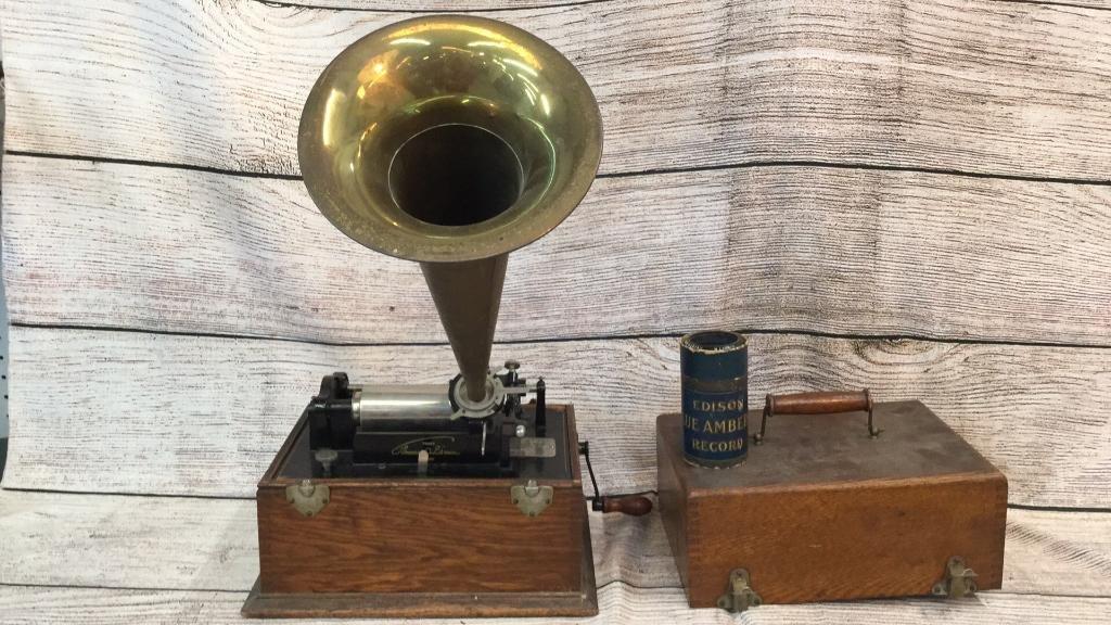 Edison Cylinder Roll Phonograph