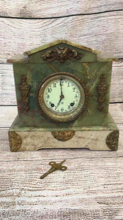 Ansonia Marble Case Temple Clock