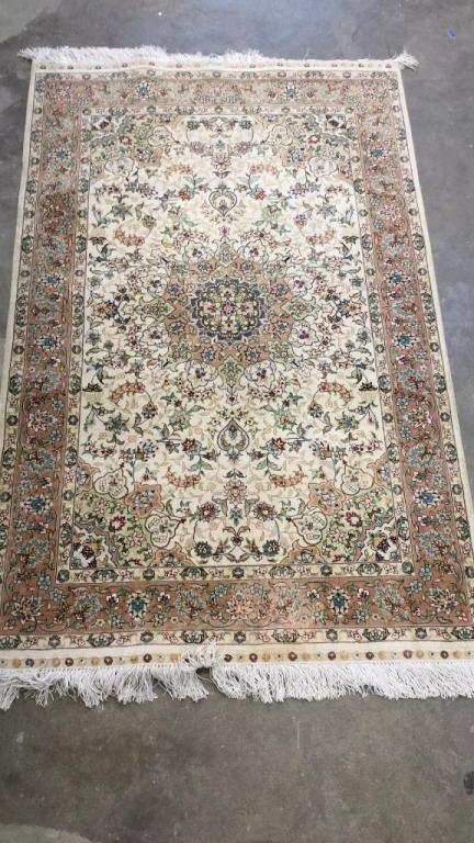 Finely Woven Area Carpet Signed