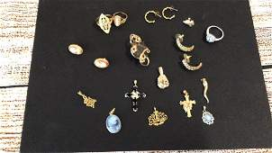 Mixed Gold Lot Jewelry